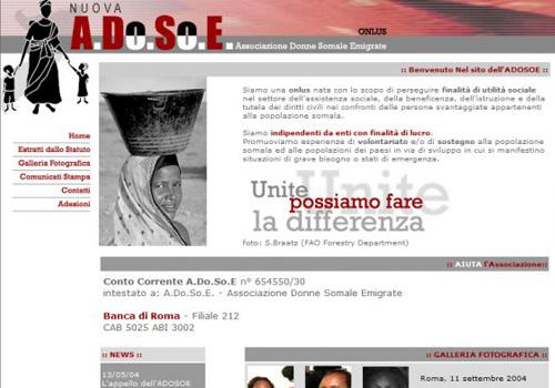 Portfolio Starfarm Internet Communications srl - Associazione Donne Somale Emigrate