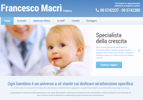 Portfolio Starfarm Internet Communications srl - Francesco Macrì - Pediatra- Roma
