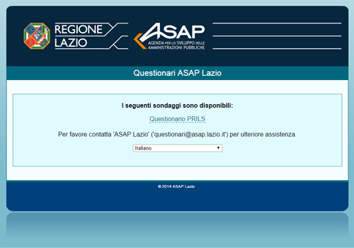 Portfolio Starfarm Internet Communications srl - Questionario online ASASP