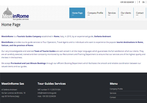 Portfolio Starfarm Internet Communications srl - sito MeetinRome.guide
