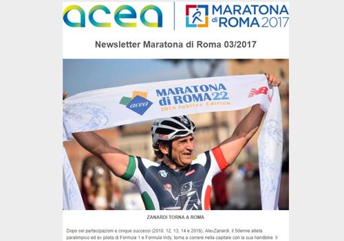Portfolio Starfarm Internet Communications srl - Newsletter Maratona di Roma